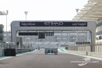 The rear view of the strat finish straight New Abu Dhabi Yas Marina Circuit