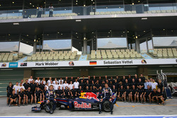 Red Bull Racing group picture, Mark Webber, Red Bull Racing and Sebastian Vettel, Red Bull Racing