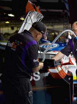 The number 11 FedEx Express Toyota is prepared for practice