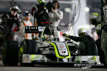 Jenson Button, Brawn GP during pitstop