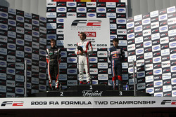 Nicola De Marco, Andy Soucek and Robert Wickens on the race podium