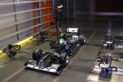 Lotus F1 Racing model in the wind tunnel