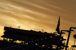 Sunset on the grandstand