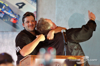 Tony Stewart on stage at Las Vegas Motor Speedway for the Roast of four time NASCAR Champion Jimmie Johnson