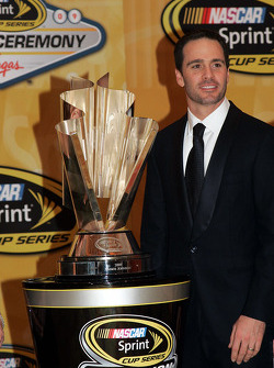 Four time NASCAR Sprint Cup Series Champion Jimmie Johnson poses with the Sprint Cup