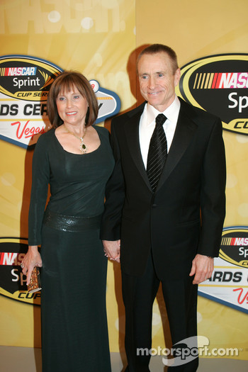 Mark Martin with his wife Arlene