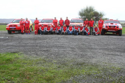 drivers and co-drivers group photoshoot