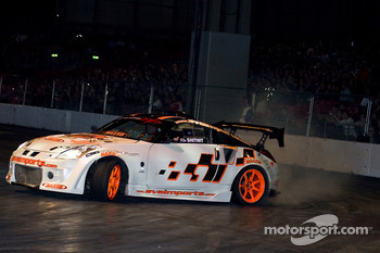 Drifting action in the live arena