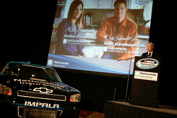 Brand and Advertising Officer John Aman introduces a new television ad with Kelley Earnhardt and Dale Earnhardt Jr.