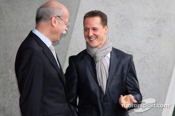 Michael Schumacher with Dr. Dieter Zetsche