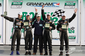 Victory lane: GT winners Jonathan Bomarito, Nick Ham, David Haskell and Sylvain Tremblay