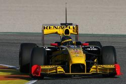 Robert Kubica, Renault F1 Team, test the new Bell helmet