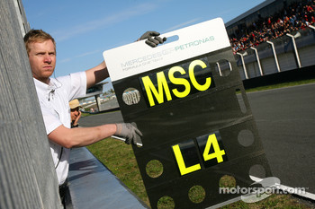 Michael Schumacher, Mercedes GP pit board