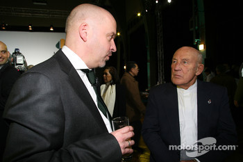 Mike Gascoyne, Lotus F1 Racing Chief Technical Officer and Sir Stirling Moss