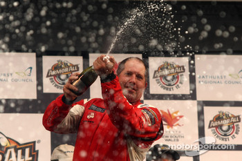 Podium: Paul Morris celebrates