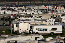 RV camping in the infield