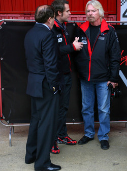 Andy Soucek, Test Driver, Virgin Racing and Sir Richard Branson, Chairman of the Virgin Group