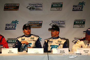 Post-race press conference: class and overall winners Scott Pruett and Memo Rojas