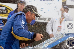 Victory lane: crew chief Steve Addington celebrates