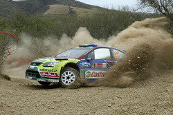 Jari-Matti Latvala and Miikka Anttila, Ford Focus RS WRC08, BP Ford Abu Dhabi World Rally Team