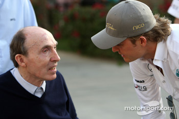 Sir Frank Williams, WilliamsF1 Team, Team Chief, Managing Director, Team Principal, Nico Rosberg, Mercedes GP