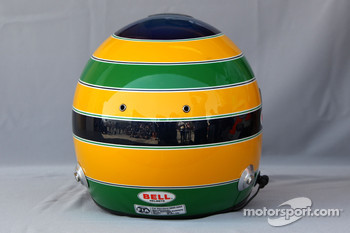 Helmet of Bruno Senna, HRT F1 Team
