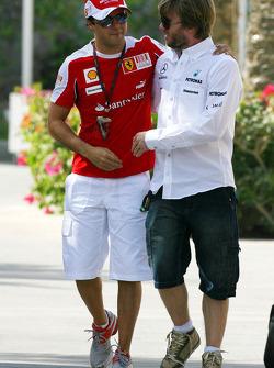 Felipe Massa, Scuderia Ferrari and Nick Heidfeld, Test Driver, Mercedes GP