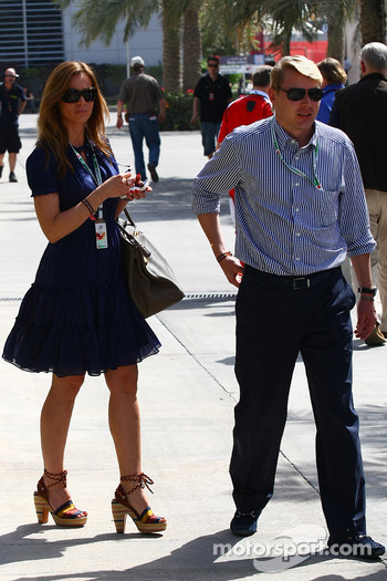 Mika Hakkinen with his partner