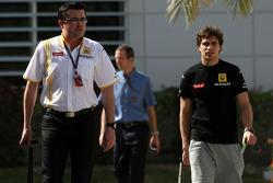 Eric Boullier, Team Principal, Renault F1 Team, Jerome D'Ambrosio, Test Driver, Renault F1 Team