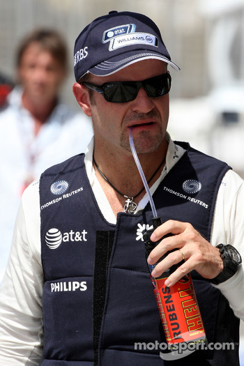 Rubens Barrichello, Williams F1 Team in a cooling jacket
