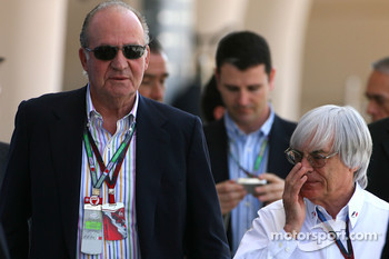 Juan Carlos I, King of Spain and Bernie Ecclestone