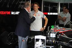 Juan Carlos I, King of Spain, Jenson Button, McLaren Mercedes