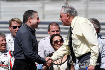 Jean Todt, FIA president, Sir Jack Brabham, 1959, 1969 and 1966 F1 World Champion