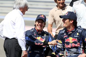 Bernie Ecclestone, Sebastian Vettel, Red Bull Racing, Mark Webber, Red Bull Racing