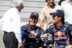 Bernie Ecclestone, Sebastian Vettel, Red Bull Racing, Mark Webber, Red Bull Racing