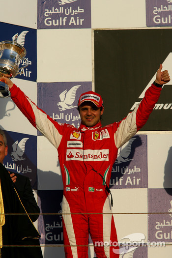 Podium: second place Felipe Massa, Scuderia Ferrari