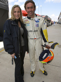 Olivier Beretta with his girlfriend