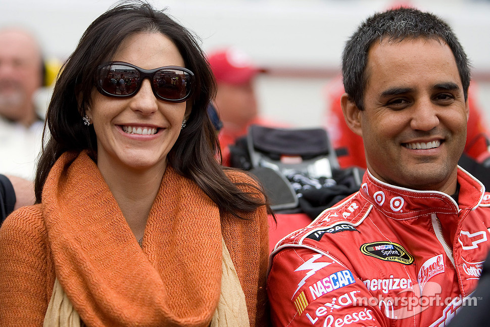Juan Pablo Montoya, Earnhardt Ganassi Racing Chevrolet with his wife Connie