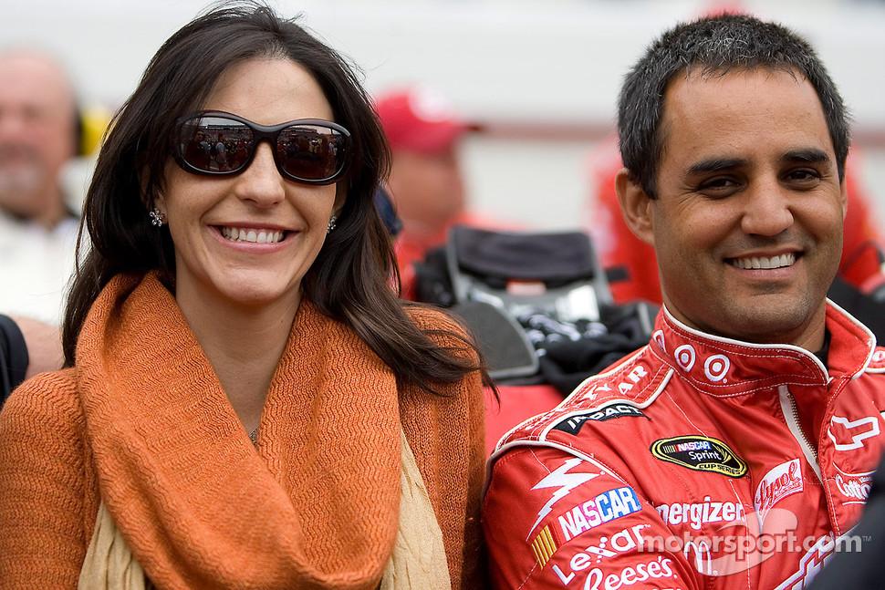 Juan Pablo Montoya, Earnhardt Ganassi Racing Chevrolet with his wife Connie