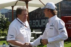 Norbert Haug, Mercedes, Motorsport chief, Nico Rosberg, Mercedes GP