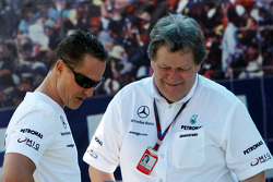 Michael Schumacher, Mercedes GP, Norbert Haug, Mercedes, Motorsport chief