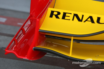 Detail, front wing, Renault F1 Team