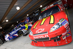 The No. 1 McDonald's Chevrolet sits in the garage