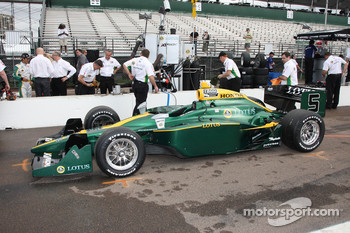 Lotus livery on the car of Takuma Sato, KV Racing Technology