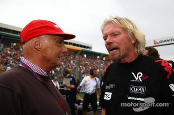 Nikki Lauder with Sir Richard Branson