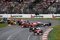 Felipe Massa, Scuderia Ferrari, Mark Webber, Red Bull Racing, Fernando Alonso, Scuderia Ferrari, Michael Schumacher, Mercedes GP