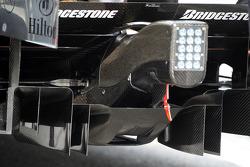 Lewis Hamilton, McLaren Mercedes, rear diffuser detail