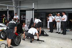 Michael Schumacher, Mercedes GP and Andrew Shovlin, Mercedes GP, Senior Race Engineer to Michael Schumacher