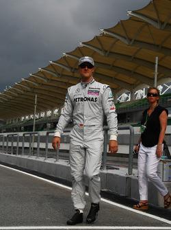 Michael Schumacher, Mercedes GP with Sabine Kehm, Michael Schumacher's press officer