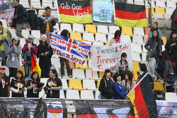 Fans and banners, flag